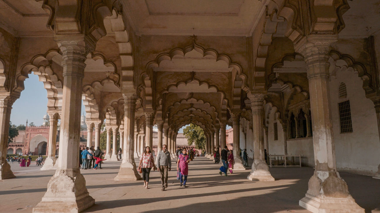 A Hall inside Agra Fort