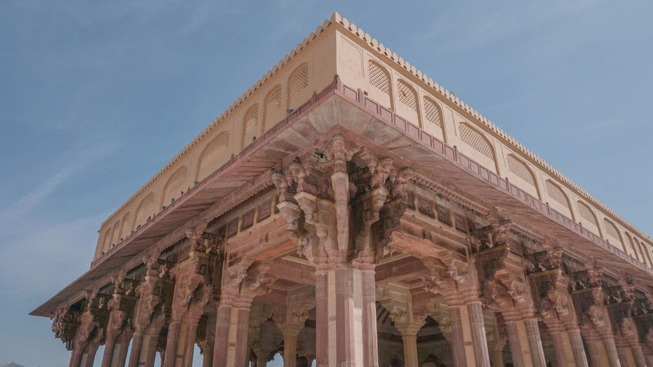 One of the structures inside Amer Fort