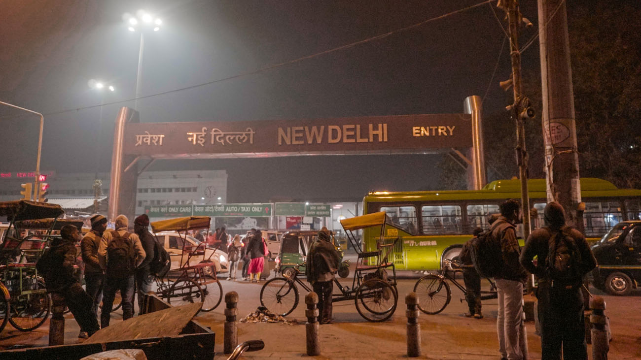 New Delhi Railway Station early in the morning
