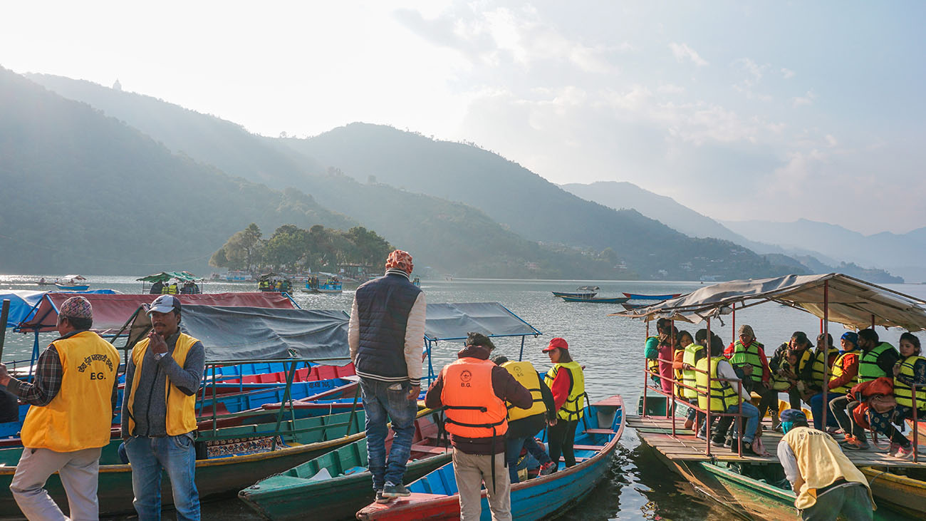 Boat ride to Tal Barahi Temple