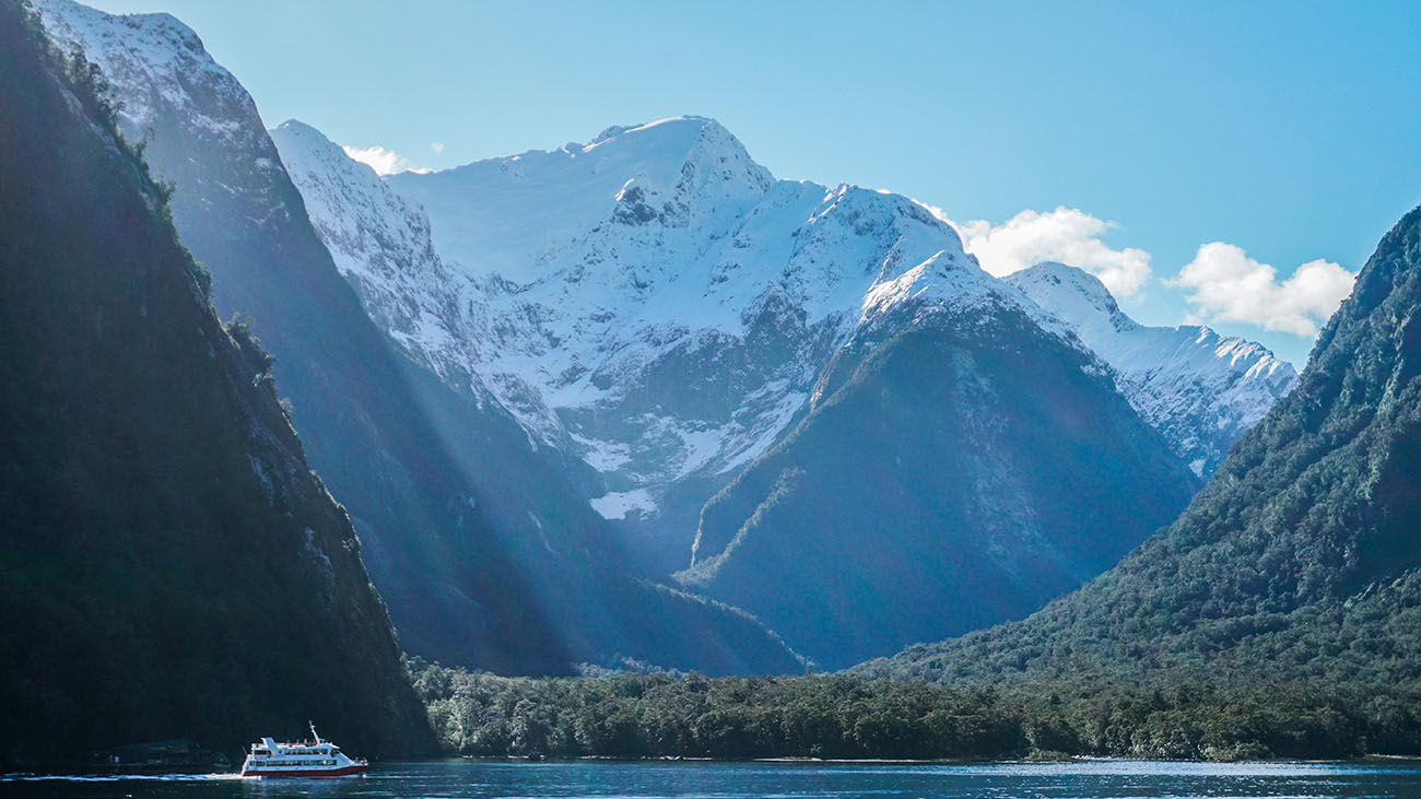 Cruising at Milford Sound