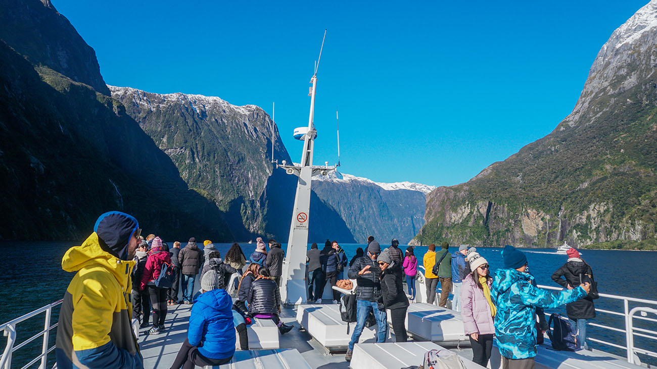 Our JUCY boat for the Milford Sound cruise