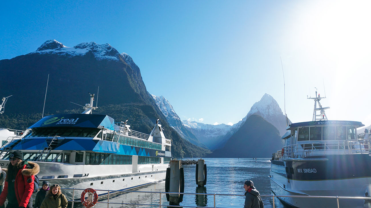 The boarding area for Milford Sound cruises