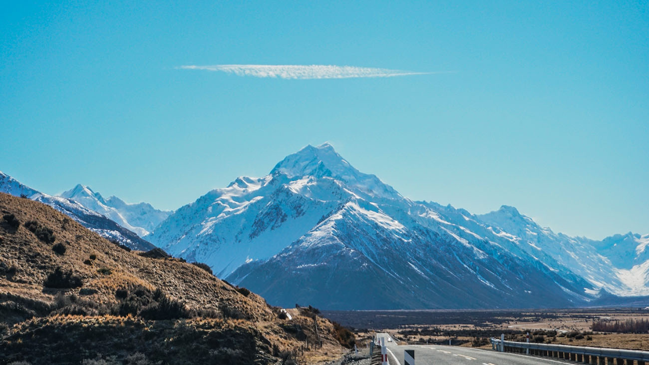 On the way to Mount Cook Village